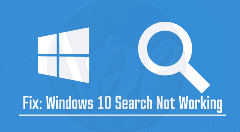 Why Windows 10 Search Not Working? Solution