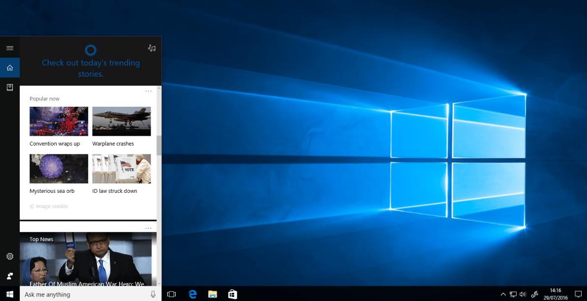 Windows 10 Cortana Search Not Working